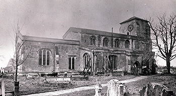 Eaton Bray church from the north about 1890 [Z50/39/4]